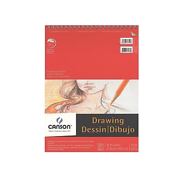 Canson Foundation Drawing Pad, 11 In. x 14 In., Pack Of 3 (3PK-100510979)