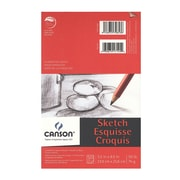 Canson Foundation Sketch Pads 5 1/2 In. X 8 1/2 In. 50 Sheets [Pack Of 6] (6PK-100511028)