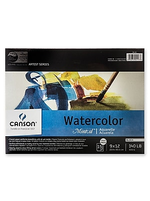 Canson Montval Watercolor Paper 9 In. X 12 In. Block Of 15 140 Lb. Cold Press [Pack Of 2] (2PK-100511063)