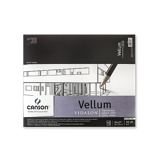 Canson Vidalon Tracing Vellum, 14 In. x 17 In., Pad Of 50 Sheets (100510985)