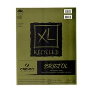 Canson Xl Recycled Bristol Pads 11 In. X 14 In. Pad Of 25 Sheets Fold-Over (100510933)