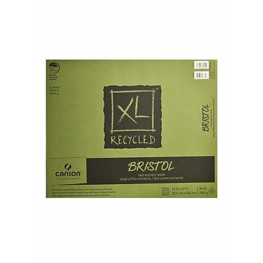 Canson Xl Recycled Bristol Pads 14 In. X 17 In. Pad Of 25 Sheets Fold-Over (100510934)