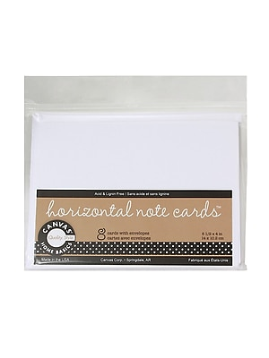 Canvas Corp Packaged Cards And Envelopes Horizontal Note Cards With Envelopes White 5 1/2 In. X 4 in. 4/Pack(4PK-CDS1828)