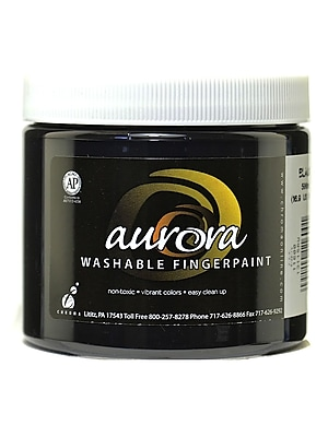 Chroma Inc. Aurora Washable Finger Paint Black [Pack Of 4] (4PK-11600) 2135925