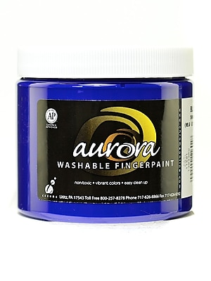 Chroma Inc. Aurora Washable Finger Paint Blue [Pack Of 4] (4PK-11601) 2137277