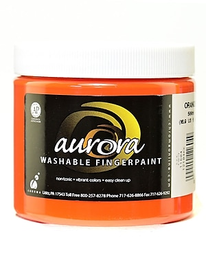 Chroma Inc. Aurora Washable Finger Paint Orange [Pack Of 4] (4PK-11604) 2135916