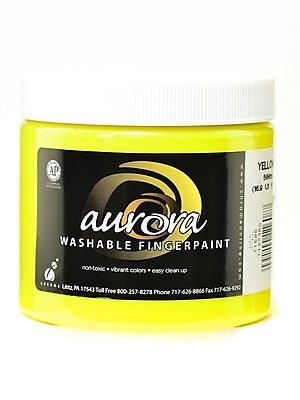 Chroma Inc. Aurora Washable Finger Paint Yellow [Pack Of 4] (4PK-11608) 2133401