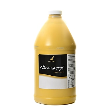 Chroma Inc. Chromacryl Students' Acrylic Paints Yellow Oxide 2 Liters (1415)