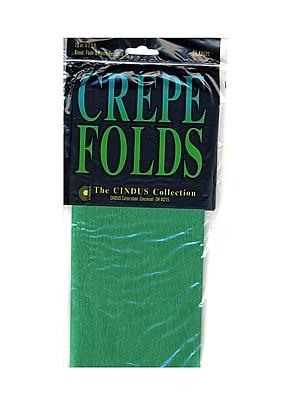 Cindus Crepe Paper Folds Emerald Green [Pack Of 6] (6PK-1181)