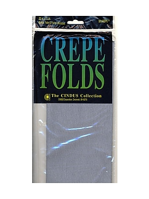 Cindus Crepe Paper Folds Gray [Pack Of 6] (6PK-1118)