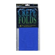 Cindus Crepe Paper Folds Royal Blue [Pack Of 6] (6PK-1157)