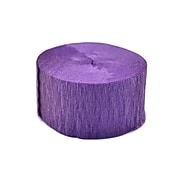 Cindus Crepe Paper Streamers Purple [Pack Of 12] (12PK-3662)
