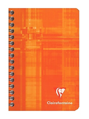Clairefontaine Classic Wirebound Notebooks 3 1/2 In. X 5 1/2 In. Ruled 90 Sheets [Pack Of 10] (10PK-8506)