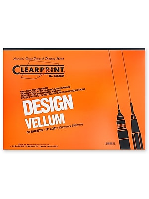 Clearprint Design Vellum Pad No. 1000Hp 17 In. X 22 In. Pad Of 50 (10001420)