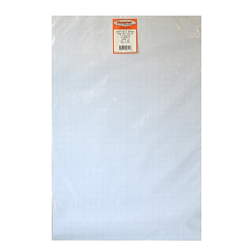 Clearprint Fade-Out Design And Sketch Vellum - Grid 10 X 10 24 In. X 36 In. Pack Of 10 Sheets (10203228)