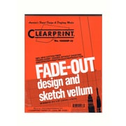 Clearprint Fade-Out Design And Sketch Vellum - Grid Pad 10 X 10 8 1/2 In. X 11 In. Pad Of 50 (10003410)