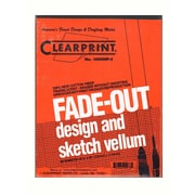 Clearprint Fade-Out Design And Sketch Vellum - Grid Pad 4 X 4 8 1/2 In. X 11 In. Pad Of 50 (10004410)