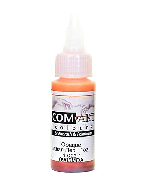 Com-Art Opaque Airbrush Color Indian Red [Pack Of 4] (4PK-1-022-1)