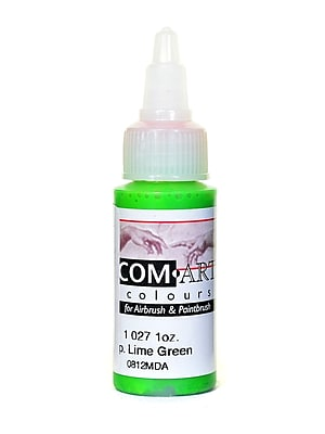 Com-Art Opaque Airbrush Color Lime Green [Pack Of 4] (4PK-1-027-1)