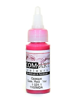 Com-Art Opaque Airbrush Color Quinacridone Red [Pack Of 4] (4PK-1-024-1)