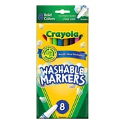 Crayola Bold Colors Ultra-Clean Washable Markers Fine Box Of 8 [Pack Of 6] (6PK-58-7836)