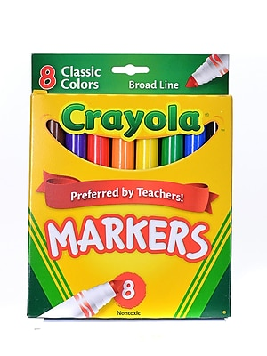 Crayola Classic Colors Marker Sets Broad Box Of 8 [Pack Of 6] (6PK-58-7708)