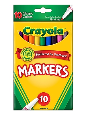 Crayola Classic Colors Marker Sets Fine Box Of 10 [Pack Of 6] (6PK-58-7726)