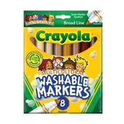 Crayola Multicultural Colors Ultra-Clean Washable Markers Box Of 8 [Pack Of 4] (4PK-58-7801)