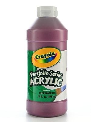 Crayola Portfolio Series Acrylic Paint Deep Magenta 16 Oz. [Pack Of 2] (2PK-20-4016-300)