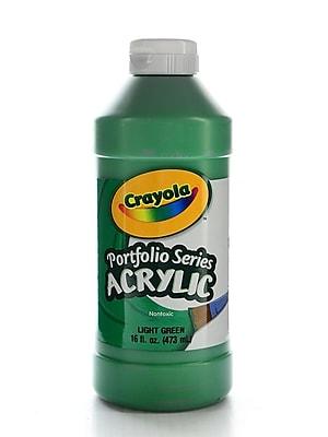 Crayola Portfolio Series Acrylic Paint Light Green 16 Oz. [Pack Of 2] (2PK-20-4016-313)