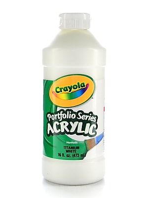 Crayola Portfolio Series Acrylic Paint Titanium White 16 Oz. [Pack Of 2] (2PK-20-4016-432)