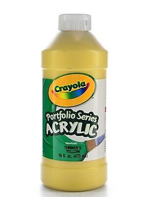 Crayola Portfolio Series Acrylic Paint Turner'S Yellow 16 Oz. [Pack Of 2] (2PK-20-4016-730)