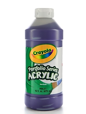 Crayola Portfolio Series Acrylic Paint Violet 16 Oz. [Pack Of 2] (2PK-20-4016-186)