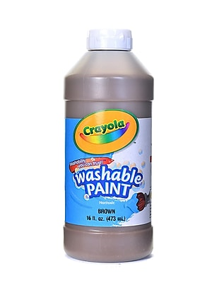 Crayola Washable Paint Brown [Pack Of 4] (4PK-54-2016-007)