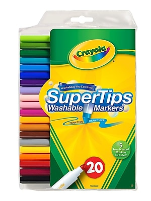 Crayola Washable Super Tip Markers With Silly Scents Set Of 20 [Pack Of 4] (4PK-58-8106)