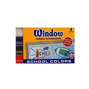 Crayola Window Mega Markers Set Of 4 School Colors [Pack Of 4] (4PK-58-8171)