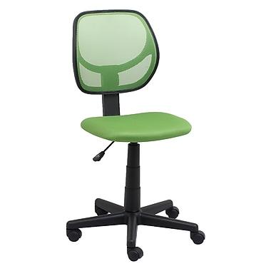OFM – Chaise de bureau en tissu Essentials, sans accoudoirs, vert (845123088432)
