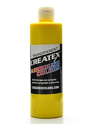 Createx Airbrush Colors Transparent Brite Yellow 16 Oz. (5114-16)