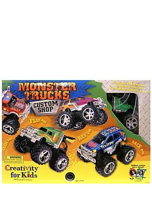 Creativity For Kids Monster Trucks Custom Shop 4 Truck Kit (1166)