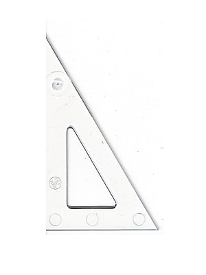 C-Thru Transparent Triangles Scholastic-30/60 Degree 4 In. [Pack Of 12] (12PK-S-390-4)