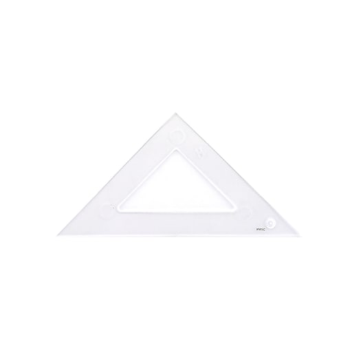 C Thru Transparent Triangles Scholastic 45 90 Degree 4 In