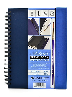 Daler-Rowney Cachet Travel Books, Watercolor, 7 In. x 10 In. (473219710)