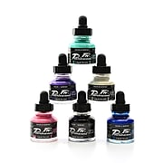 Daler-Rowney Fw Artists' Ink Sets, Pearlescent Effects, Set Of 6 (603200006)