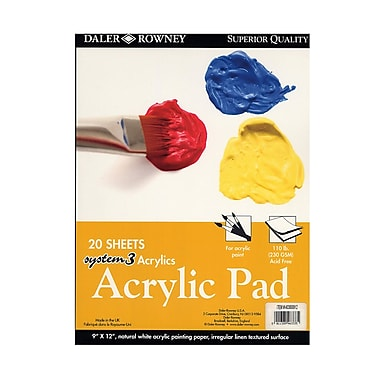 Daler-Rowney System 3 Acrylic Pad 8 1/4 In. X 11 3/4 In. (403600912)