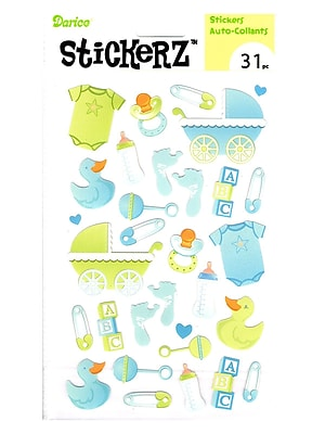 Darice Stickerz Baby Boy [Pack Of 12] (12PK-1214-08)