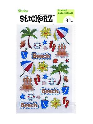 Darice Stickerz Beach [Pack Of 12] (12PK-1214-33)