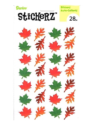Darice Stickerz Fall Leaves [Pack Of 12] (12PK-1214-52)