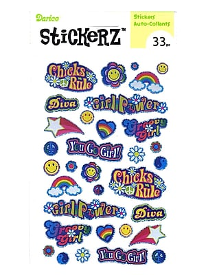 Darice Stickerz Girl Power [Pack Of 12] (12PK-1214-20)