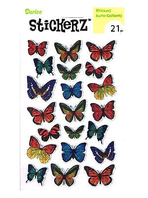 Darice Stickerz Holographic Butterfly [Pack Of 12] (12PK-1214-30)