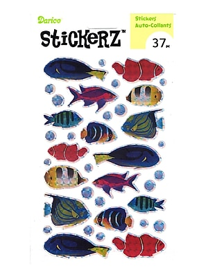 Darice Stickerz Holographic Fish [Pack Of 12] (12PK-1214-37)